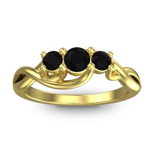 Black Onyx Petite Vitana Ring in 18k Yellow Gold