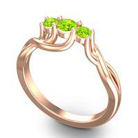 Peridot Petite Vitana Ring in 14K Rose Gold