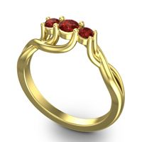 Garnet Petite Vitana Ring in 18k Yellow Gold