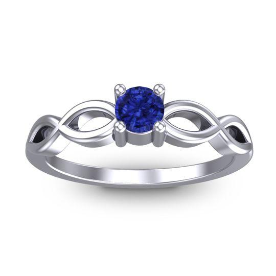 Blue Sapphire Petite Kezasuci Ring in 14k White Gold