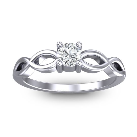 Petite Kezasuci Diamond Ring in 14k White Gold