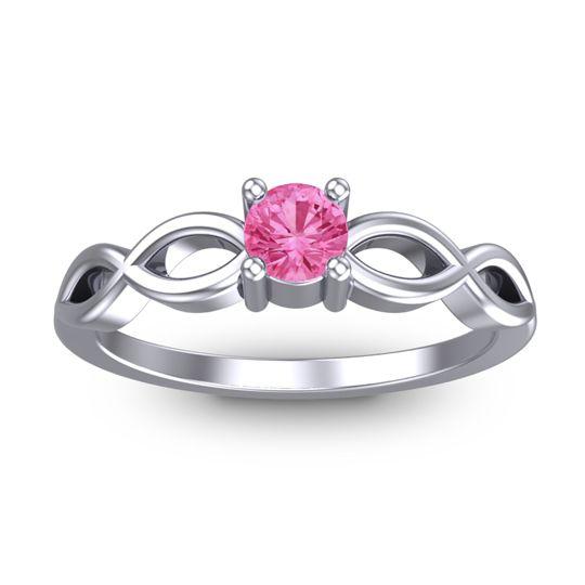 Pink Tourmaline Petite Kezasuci Ring in 14k White Gold