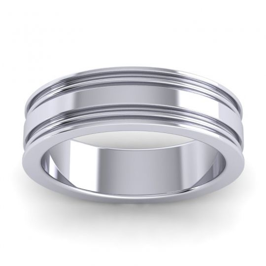 Polished Ajani Band in 14k White Gold