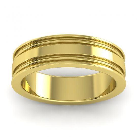 Polished Ajani Band in 18k Yellow Gold