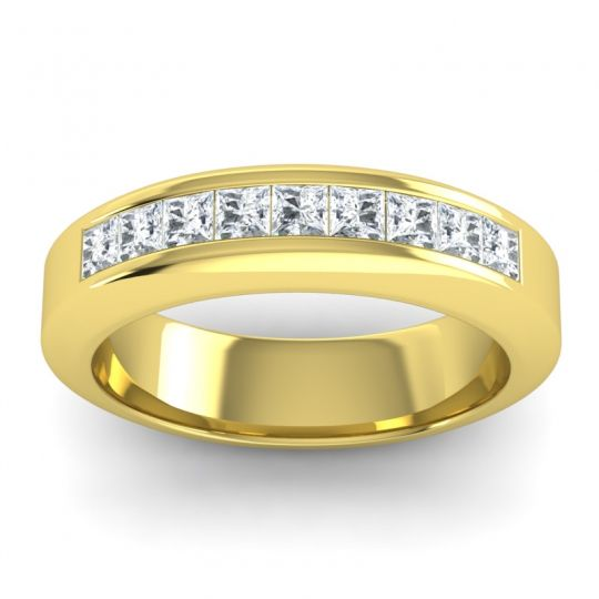 Polished Urjita Men's Diamond Band in 14k Yellow Gold