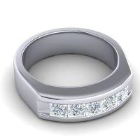 Diamond Polished Garvita Band in 14k White Gold
