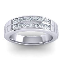 Diamond Polished Agkita Band in 18k White Gold