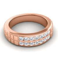 Diamond Polished Agkita Band in 14K Rose Gold