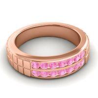 Pink Tourmaline Polished Agkita Band in 14K Rose Gold