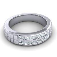 Polished Agkita Men's Diamond Band in Platinum