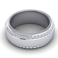 Diamond Polished Anindita Band in 14k White Gold