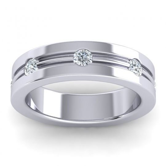 Diamond Polished Khalita Band in 14k White Gold