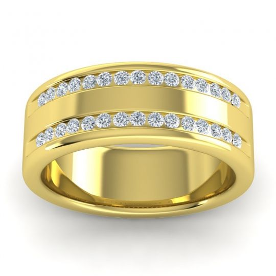 Diamond Polished Venya Band in 14k Yellow Gold