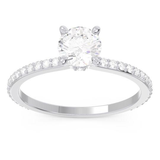 Diamond Pave Mauli Ring in 14k White Gold