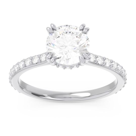 Diamond Pave Luta Ring in 14k White Gold