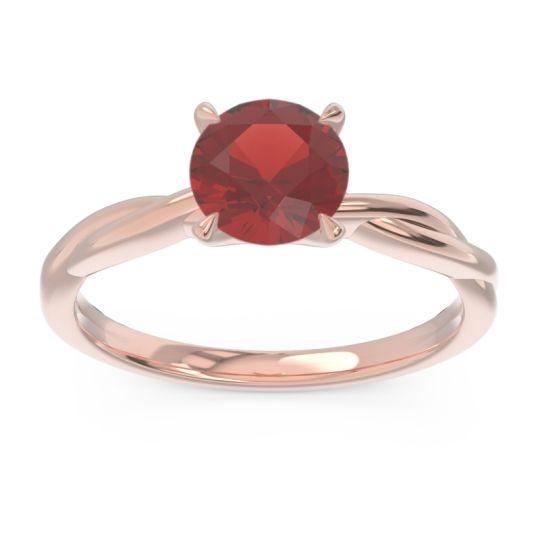 Garnet Solitaire Pathika Ring in 18K Rose Gold