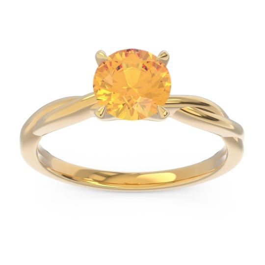 Citrine Solitaire Pathika Ring in 18k Yellow Gold
