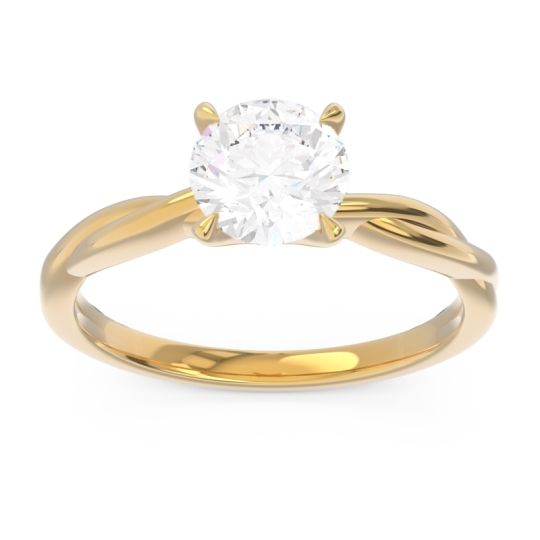 Diamond Solitaire Pathika Ring in 18k Yellow Gold
