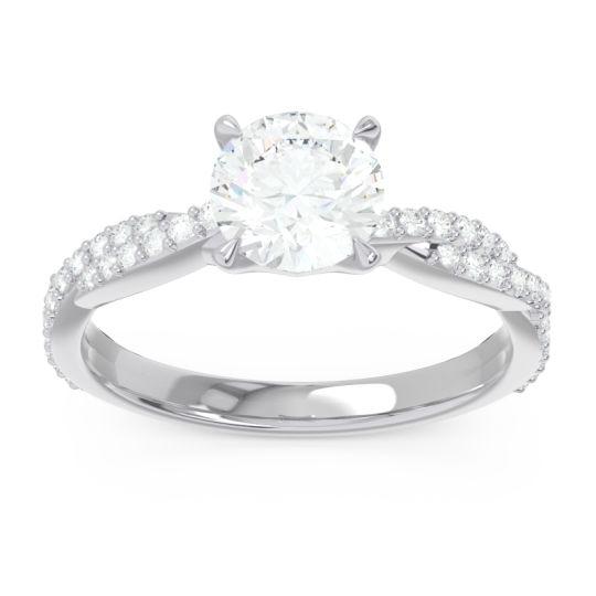 Diamond Pave Ikara Ring in 14k White Gold