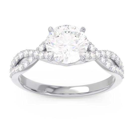 Diamond Pave Ivarna Ring in 14k White Gold