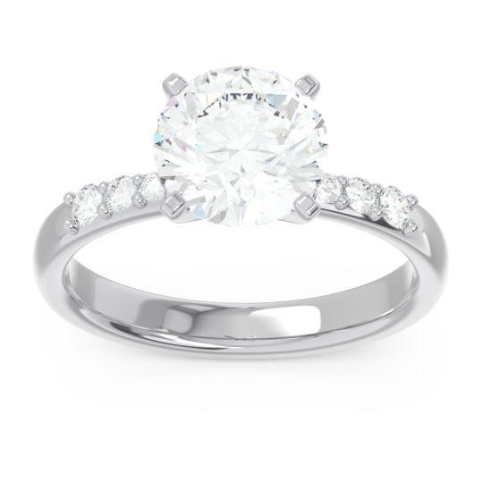 Pave Visuvat Diamond Ring in 14k White Gold