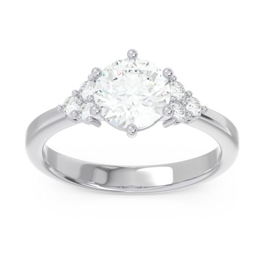 Classic Pave Girijala Diamond Ring in 14k White Gold