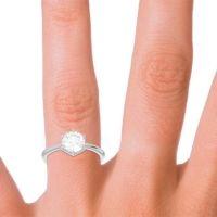 Solitaire Milgrain Kulira Diamond Ring in 14k White Gold