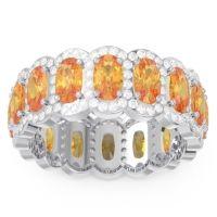 Eternity Uddanta Citrine Band with Diamond in 18k White Gold
