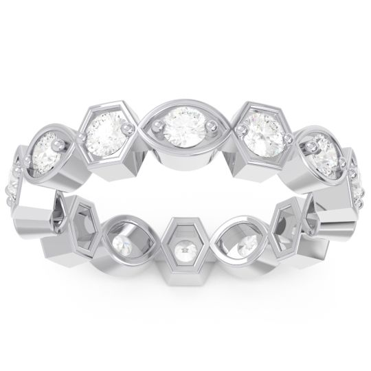 Eternity Anvita Diamond Band in 14k White Gold