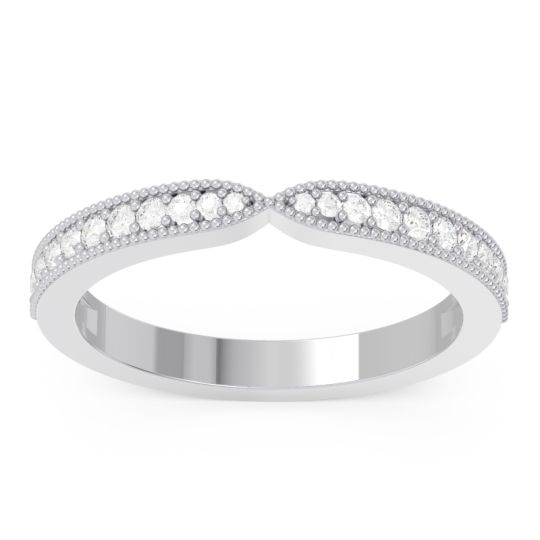 Half Eternity Parisrta Diamond Band in 14k White Gold