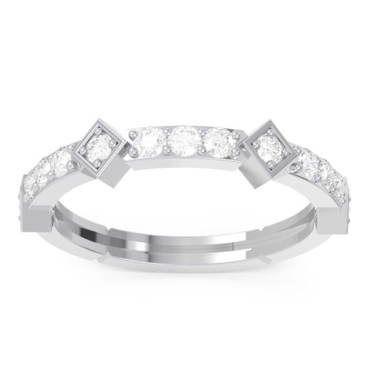 Diamond Half-Eternity Kagkana Band in 14k White Gold