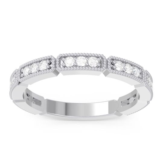 Diamond Half Eternity Jalin Band in 14k White Gold