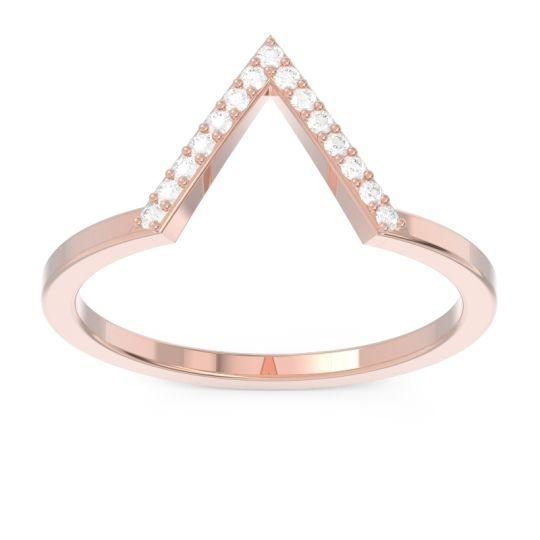 Modern Pave Zamya Diamond Ring in 14K Rose Gold