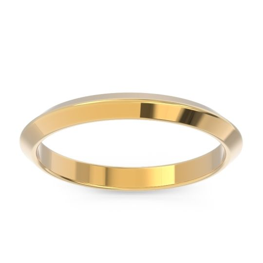 Polished Dhara Band in 18k Yellow Gold