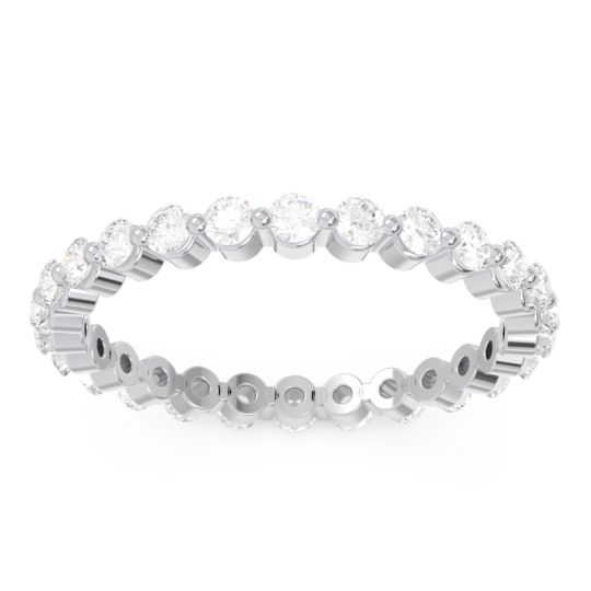 Eternity Upakrama Diamond Band in 14k White Gold
