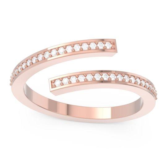 Modern Eternity Rekha Diamond Ring in 14K Rose Gold