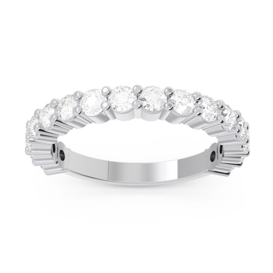 Diamond Half Eternity Suryasta Band in 14k White Gold