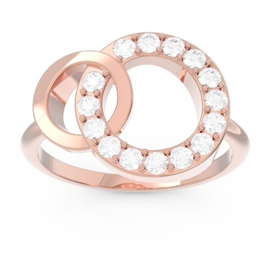 Pave Grahana Diamond Ring in 14K Rose Gold