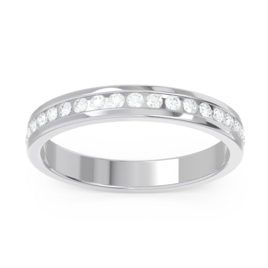 Half Eternity Strota Diamond Band in 14k White Gold