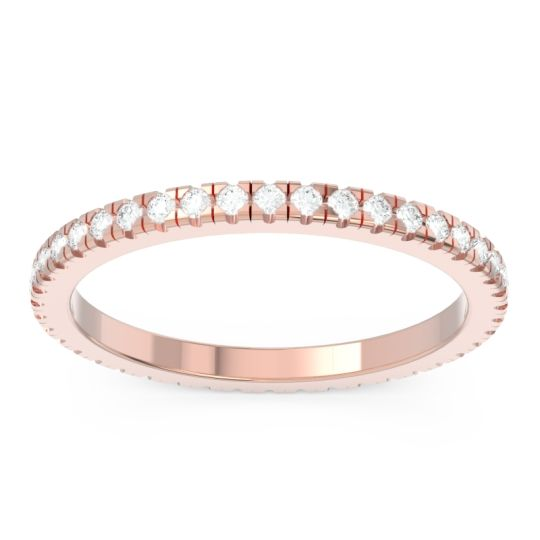 Diamond Eternity Pave Kona Band in 18K Rose Gold