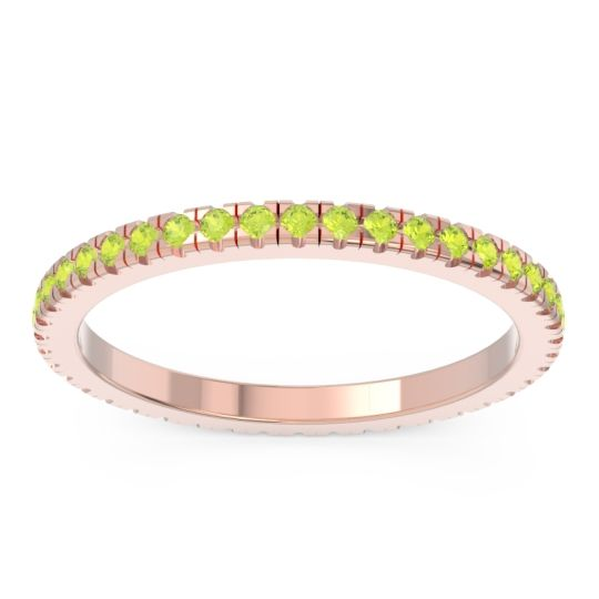 Eternity Pave Kona Peridot Band in 14K Rose Gold