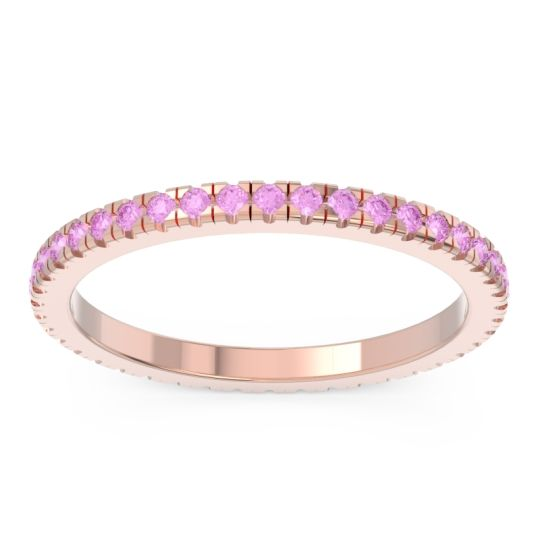 Eternity Pave Kona Pink Tourmaline Band in 18K Rose Gold