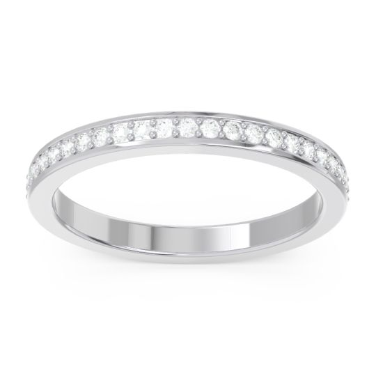 Diamond Eternity Pave Indrakila Band in 14k White Gold