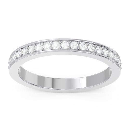 Eternity Pave Pravrti Diamond Band in 14k White Gold