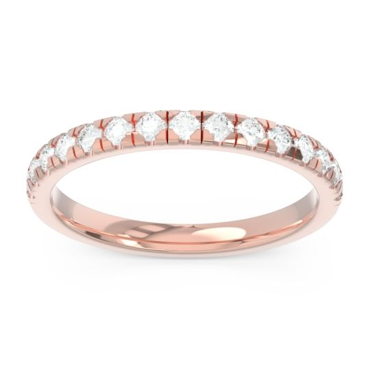 Diamond Half Eternity Aphalaka Band in 14K Rose Gold