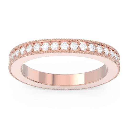 Diamond Eternity Curved Milgrain Ostha Band in 14K Rose Gold