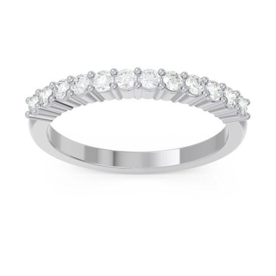 Half Eternity Pave Vartman Diamond Ring in 14k White Gold