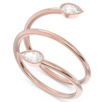 Modern Wrap Bezel Latayate Diamond Band in 18K Rose Gold
