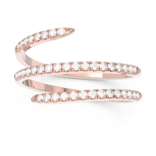 Diamond Half Eternity Wrap Pave Yatra Band in 14K Rose Gold