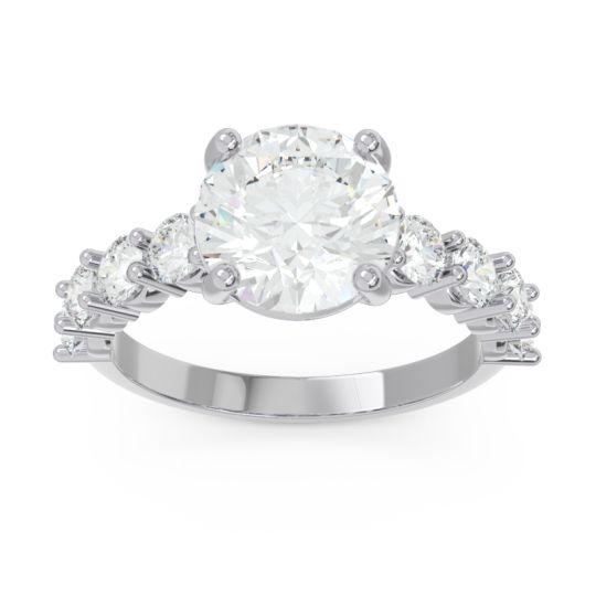 Classic Pave Bhavya Diamond Ring in 14k White Gold